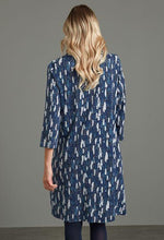 Load image into Gallery viewer, Cher Parchment Print Dress in Navy - Renaissance Boutiques Ireland