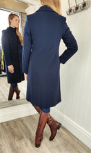 Load image into Gallery viewer, Classic Wool and Cashmere Coat in Navy - Renaissance Boutiques Ireland
