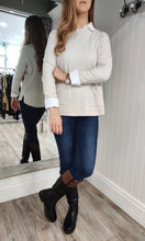 Load image into Gallery viewer, Erin Patch Pocket Crew Neck Knit in Cream - Renaissance Boutiques Ireland