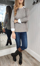Load image into Gallery viewer, Erin Patch Pocket Crew Neck Knit in Taupe - Renaissance Boutiques Ireland
