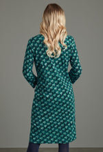 Load image into Gallery viewer, Esta Shard Print Dress in Green Dress Adini