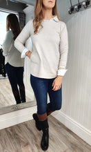 Load image into Gallery viewer, Eva Secret Pocket Crew Neck Knit in Cream - Renaissance Boutiques Ireland