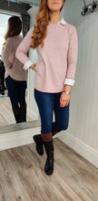 Load image into Gallery viewer, Eva Secret Pocket Crew Neck Knit in Dusty Pink - Renaissance Boutiques Ireland