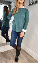 Load image into Gallery viewer, Eva Secret Pocket Crew Neck Knit in Seagreen - Renaissance Boutiques Ireland