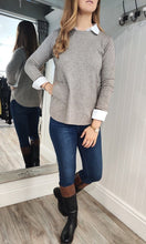 Load image into Gallery viewer, Eva Secret Pocket Crew Neck Knit in Taupe - Renaissance Boutiques Ireland