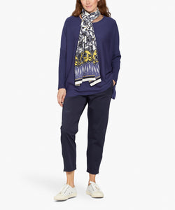 Fanasi Oversize Knit in Crown Blue Top Masai