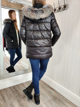 Load image into Gallery viewer, Faux Fur Hood Puffa in Black - Renaissance Boutiques Ireland