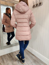Load image into Gallery viewer, Faux Fur Trim Fitted Coat in Pink - Renaissance Boutiques Ireland