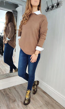 Load image into Gallery viewer, Fia Cable Trim Knit Sweater in Tobacco - Renaissance Boutiques Ireland