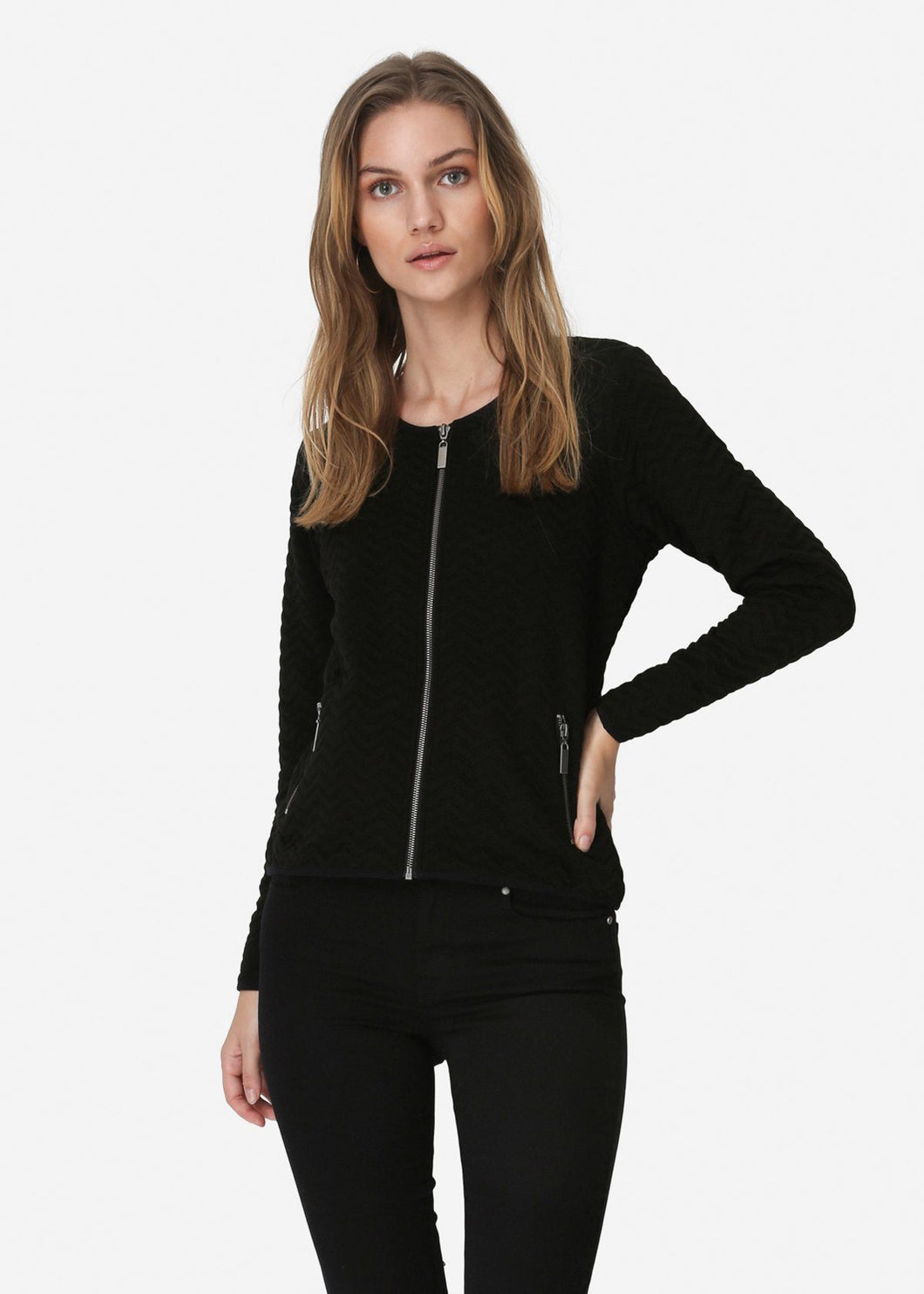 Francie Fitted Zip Jacket Black - Renaissance Boutiques Ireland