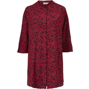 Geam Button Through Shirt in Red - Renaissance Boutiques Ireland