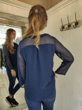 Load image into Gallery viewer, Georgie Blouse in Navy Top Boutique