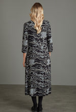 Load image into Gallery viewer, Gina Murakami Print Dress in Black Dress Adini