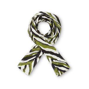 Viscose Scarf in Green Chevron - Renaissance Boutiques Ireland