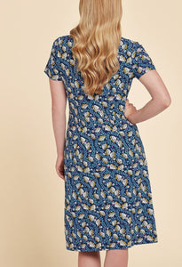 Harper Dress Mirabelle Print Navy Blue - Renaissance Boutiques Ireland