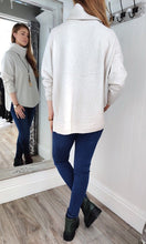 Load image into Gallery viewer, Iris Oversize Cowl Neck Knitwear in Cream - Renaissance Boutiques Ireland