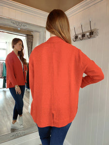 Jasmin Edge to Edge Bouclé Jacket in Valient Poppy Jacket Masai