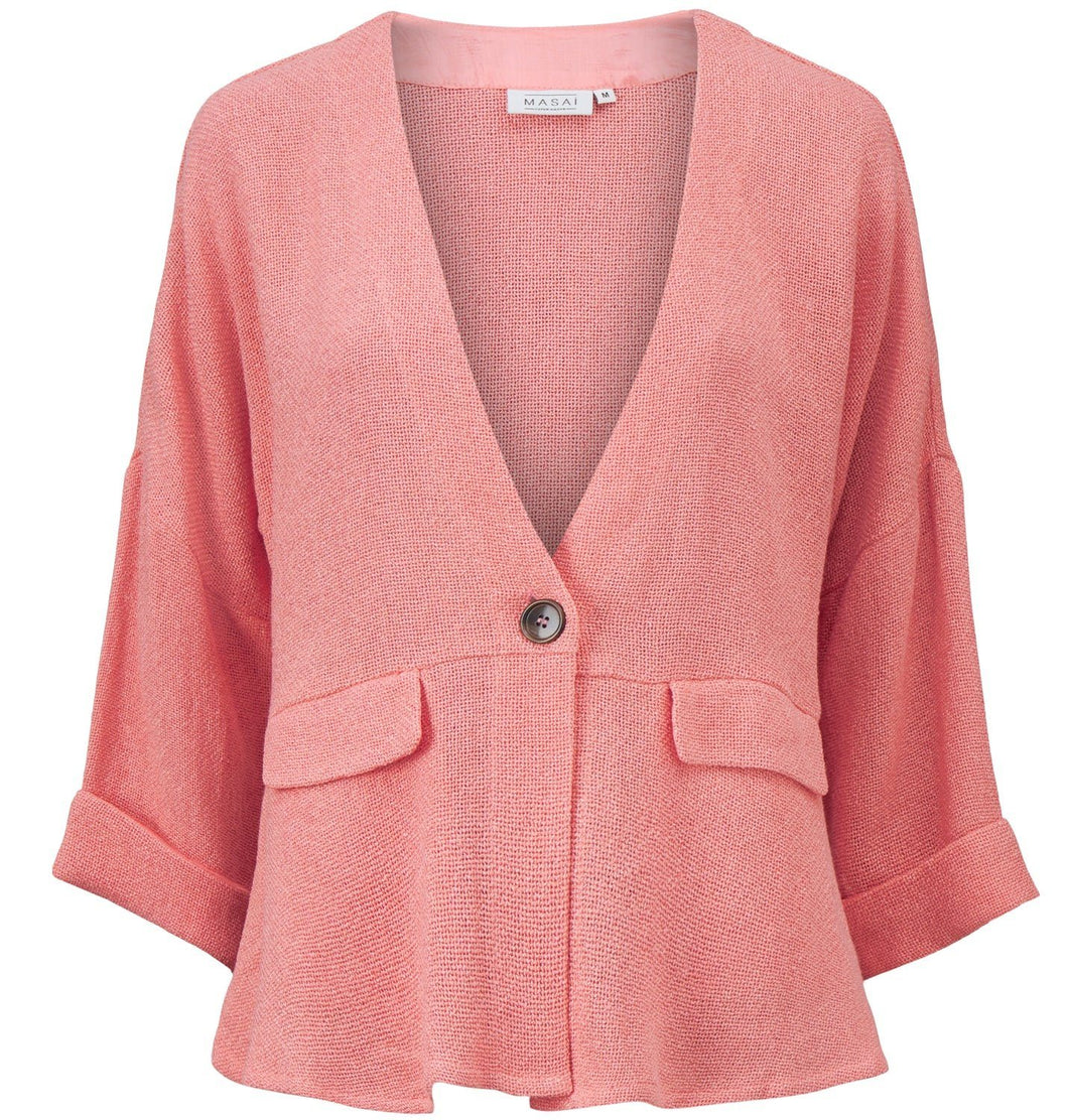 Jayla 3/4 Sleeve Jacket in Peach Blossom Jacket Masai