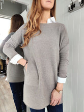 Load image into Gallery viewer, Lisa Long Knit with Pockets in Taupe - Renaissance Boutiques Ireland