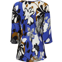 Load image into Gallery viewer, Kia 3/4 sleeve Top in Blue - Renaissance Boutiques Ireland