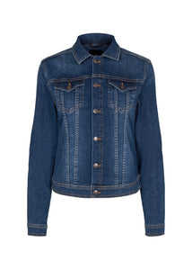 Kimberly Jacket In Dark Blue Denim Jacket Soyaconcept