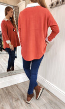 Load image into Gallery viewer, Lara Oversize Crewneck Knit with Seam Detail in Red - Renaissance Boutiques Ireland