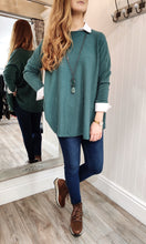 Load image into Gallery viewer, Lara Oversize Crewneck Knit with Seam Detail in Seagreen - Renaissance Boutiques Ireland
