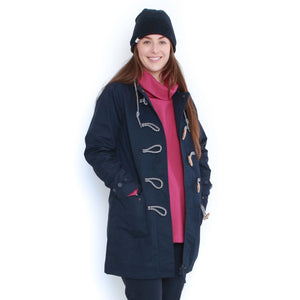 Long Line Waterproof Toggle Mac in Navy - Renaissance Boutiques Ireland