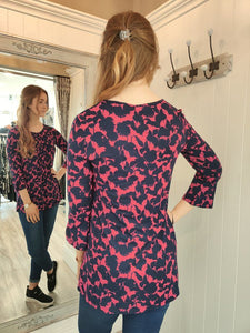 Lucy Floral Print Tunic Top Adini