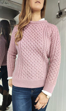 Load image into Gallery viewer, Merino Wool Aran Knit in Pink - Renaissance Boutiques Ireland