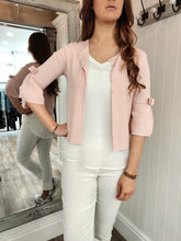 Load image into Gallery viewer, Mia Bow Sleeve Cardi in Light Pink Cardigan Boutique