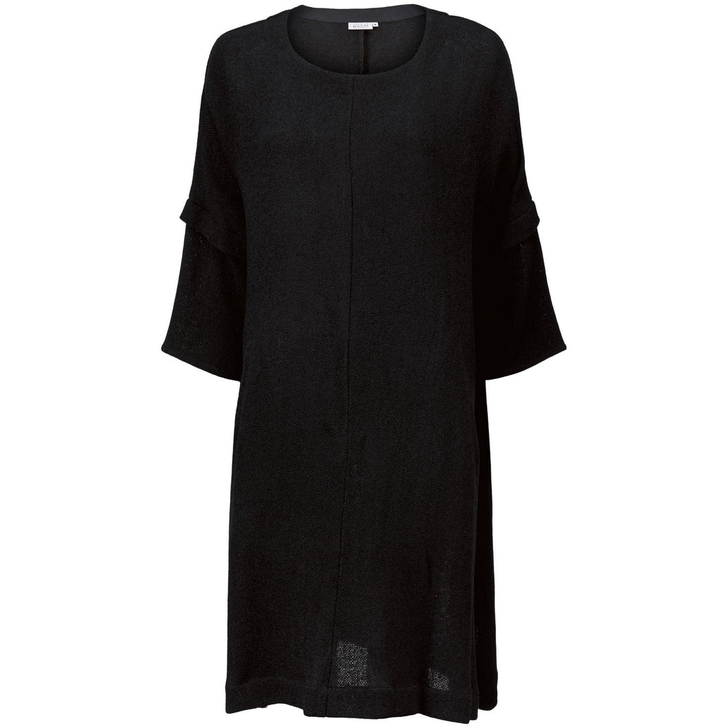 Neo Oversize Bouclé Dress in Black Dress Masai