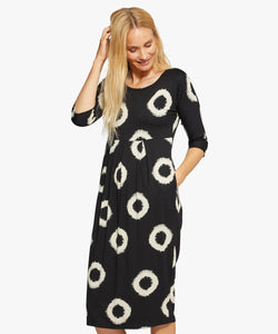 Nima Circle Pattern Dress in Black - Renaissance Boutiques Ireland