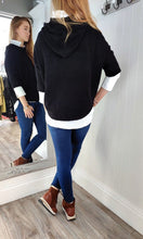 Load image into Gallery viewer, Nina Knit Hoodie with Bobble in Black - Renaissance Boutiques Ireland