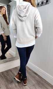 Nina Knit Hoodie with Bobble in Cream - Renaissance Boutiques Ireland