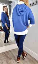 Load image into Gallery viewer, Nina Knit Hoodie with Bobble in Denim Blue - Renaissance Boutiques Ireland