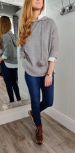 Load image into Gallery viewer, Nina Knit Hoodie with Bobble in Taupe - Renaissance Boutiques Ireland