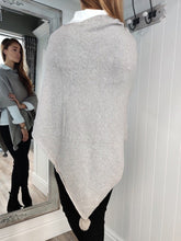 Load image into Gallery viewer, Noelle Asymmetric Sparkle Poncho in Taupe - Renaissance Boutiques Ireland