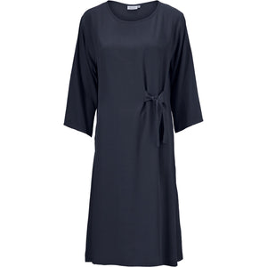 Nonie Tie Waist Dress in Navy - Renaissance Boutiques Ireland