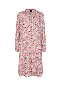 Ophira Floral Dress In Pink Rose Dress Soyaconcept