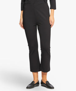 Paba Kick-Flare Trouser in Black Trousers Masai