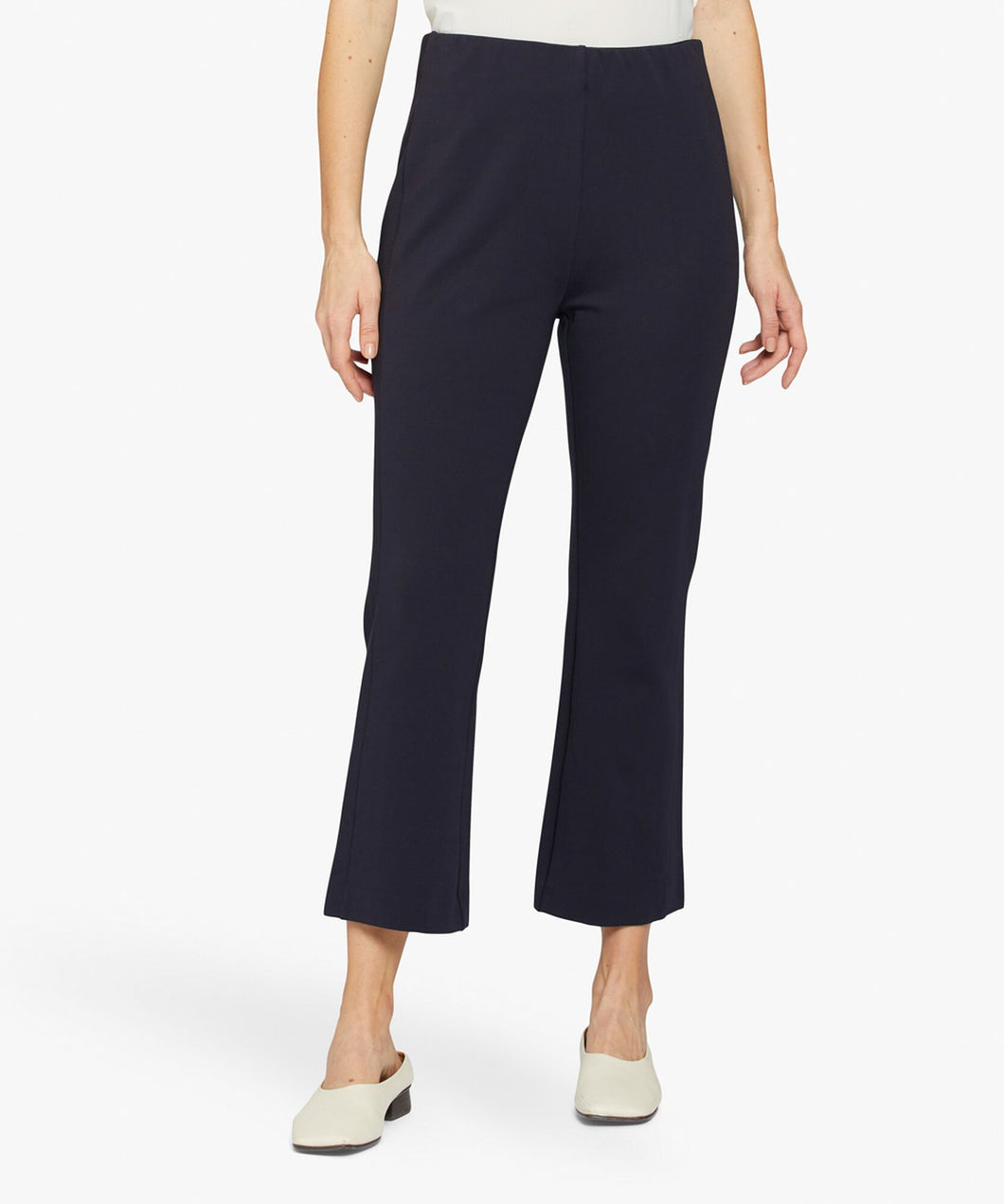 Paba Kick-Flare Trousers in Navy Trousers Masai