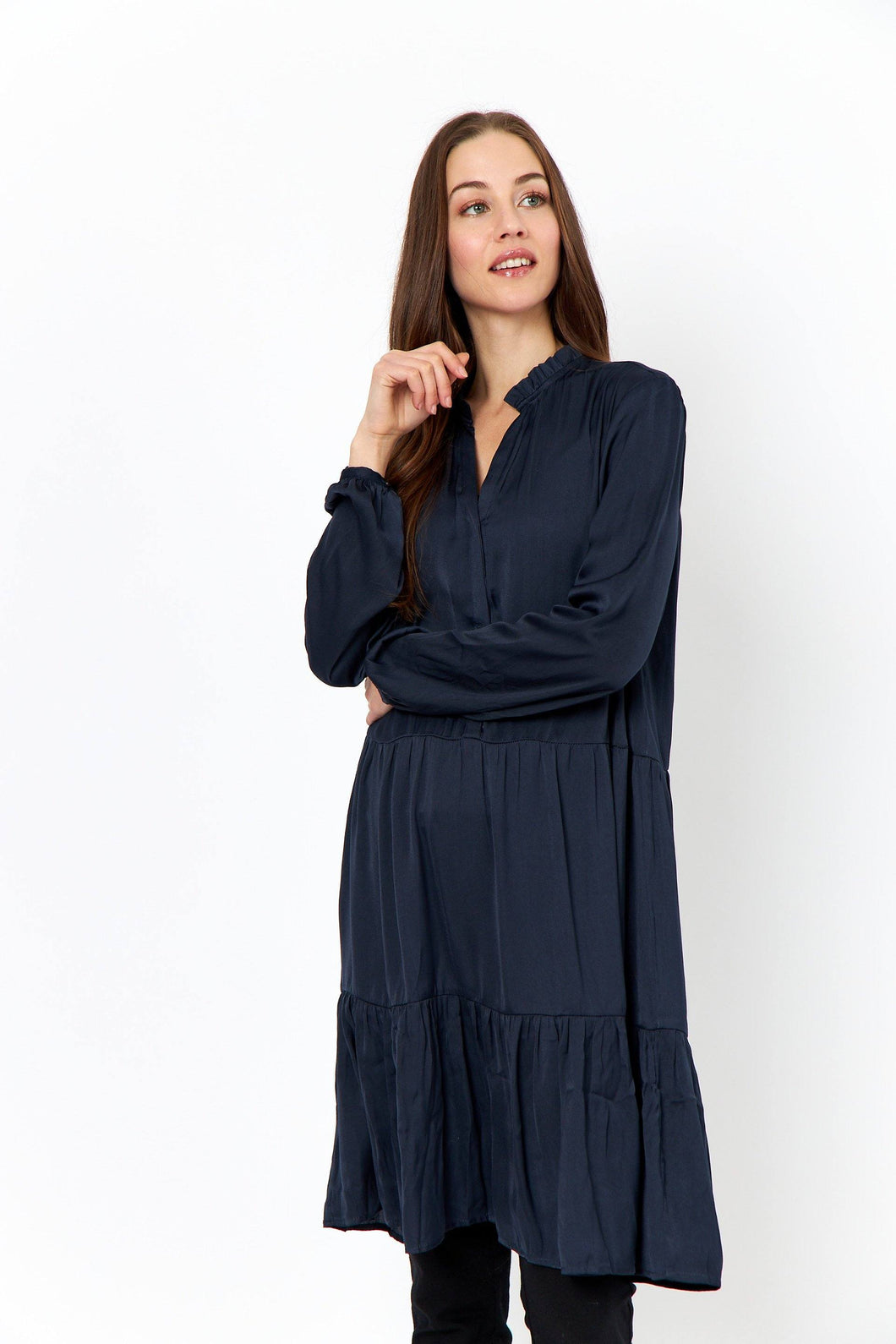 Pamela Shirt Dress in Navy - Renaissance Boutiques Ireland