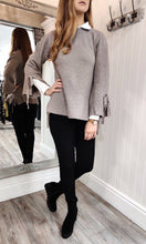 Load image into Gallery viewer, Sara Bell Sleeve Sweater in Taupe - Renaissance Boutiques Ireland