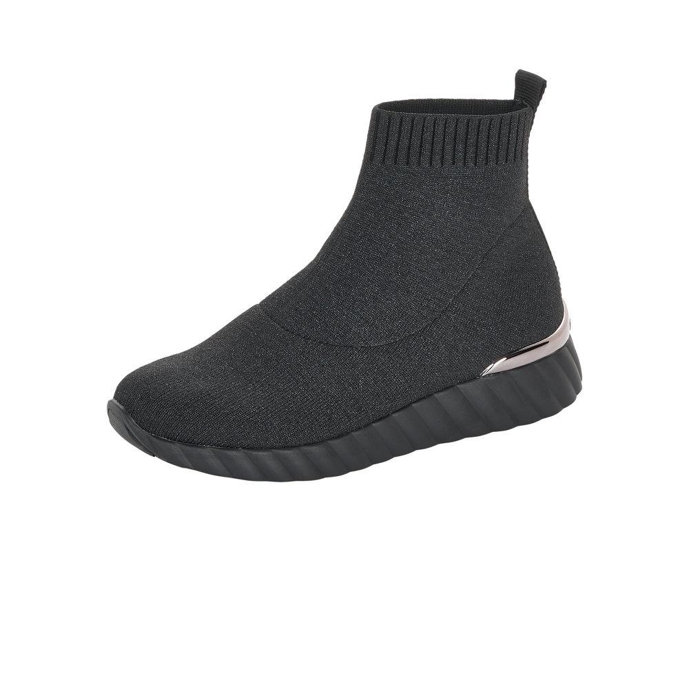 Slip-on Sock Boots in Black - Renaissance Boutiques Ireland