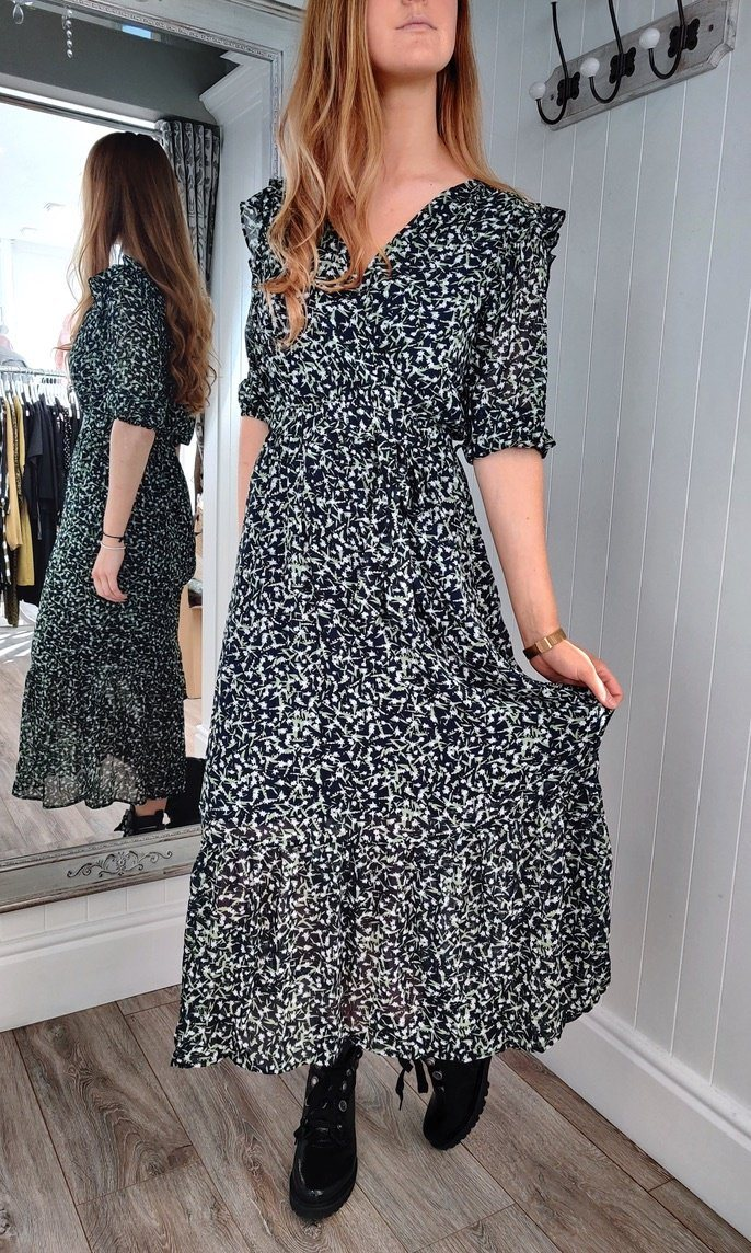 Sophie Long Pattern Dress - Renaissance Boutiques Ireland