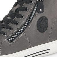 Load image into Gallery viewer, Suede High Top Sneakers in Grey - Renaissance Boutiques Ireland