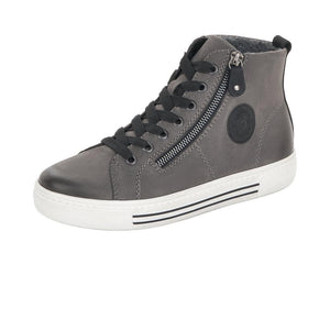 Suede High Top Sneakers in Grey - Renaissance Boutiques Ireland