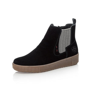 Suede-Look Chelsea Boot in Black - Renaissance Boutiques Ireland