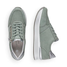 Load image into Gallery viewer, Suede Sneaker in Sage Green Sneaker Remonte